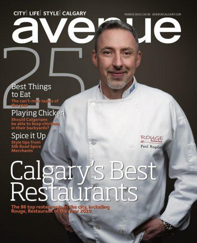 Chef Paul on Cover of Avenue Calgary Magazine